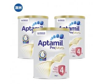 【澳洲直邮包邮】Aptamil 爱他美 白金版4段 900克x3罐/箱(3岁以上适用)