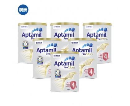 【澳洲直邮包邮】Aptamil 爱他美 白金版4段 900克x6罐/箱(3岁以上适用)