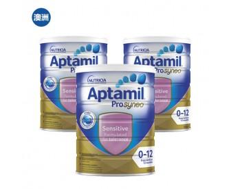 【澳洲直邮包邮】Aptamil 爱他美 防湿疹抗过敏适度水解奶粉 900克x3罐/箱(0-12个月)【奶粉订单收件人身份证必需上传】