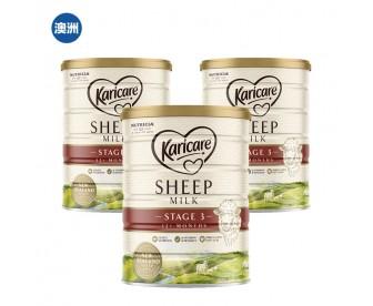 【澳洲直邮包邮】Karicare 可瑞康 绵羊奶3段 900克x3罐/箱(12个月以上适用)