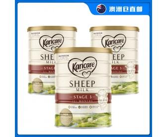 【澳洲直邮包邮】Karicare 可瑞康 绵羊奶三段 900克x3罐/箱(12个月+适用)