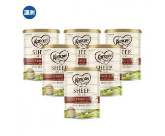 【澳洲直邮包邮】Karicare 可瑞康 绵羊奶3段 900克x6罐/箱(12个月以上适用)