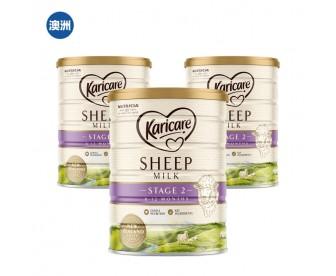 【澳洲直邮包邮】Karicare 可瑞康 绵羊奶二段 900克x3罐/箱(6-12个月)【奶粉订单身份证必须上传】