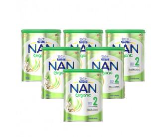 【新西兰直邮包邮】Nestle 雀巢 能恩有机益生菌配方婴幼儿奶粉2段 800克x6罐/箱(6-12个月适用)【奶粉订单收件人身份证号必填】