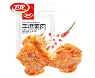 【新品】卫龙手撕素肉180G 豆制品豆干香辣味素食零食小吃休闲