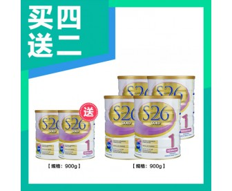 【新西兰直邮包邮】Wyeth 惠氏 S26金装奶粉1段 6罐/箱 900克*罐(0-6个月适用)【奶粉订单收件人身份证必填】