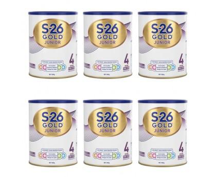 【15天必达】【新西兰直邮包邮】Wyeth 惠氏 S26金装奶粉4段 900克x6罐/箱(2岁+)【奶粉订单收件人身份证必需上传】