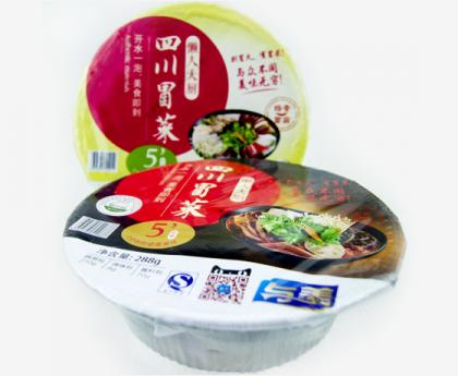 与美四川冒菜速食开水冲泡即食方便面桶装冒菜麻辣不辣双口味288g