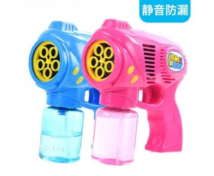 静音电动泡泡机儿童泡泡枪吹泡泡玩具抖音少女心(送:泡泡液150ml+泡泡浓缩液4包)
