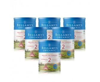 【新西兰直邮包邮】Bellamy's 贝拉米 有机奶粉2段 900克x6罐/箱(6-12个月)【奶粉订单收件人身份证号码必填】