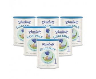 【新西兰直邮包邮】Bluebell 婴幼儿配方羊奶粉1段 800克x6罐/箱(0-6个月适用)【奶粉订单收件人身份证必需上传】