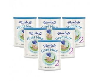 【新西兰直邮包邮】Bluebell 婴幼儿配方羊奶粉2段 800克x6罐(6-12个月适用)【奶粉订单收件人身份证必需上传】