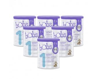 【新西兰直邮包邮】Bubs 婴儿山羊配方奶粉1段 800克x6罐/箱(0-6个月适用)【奶粉订单收件人身份证必填】