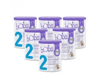 【新西兰直邮包邮】Bubs 婴儿山羊配方奶粉2段 800克x6罐/箱(6-12个月适用)【奶粉订单身份证必须上传】