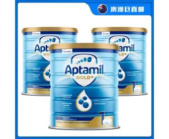【澳洲直邮包邮】Aptamil 爱他美 金装1段 900克x3罐/箱(0-6个月)