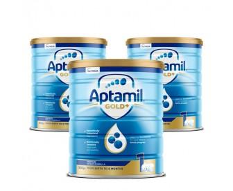 【新西兰直邮包邮】Aptamil 爱他美 金装1段 900克x3罐/箱(0-6个月) 【奶粉订单身份证必须上传】