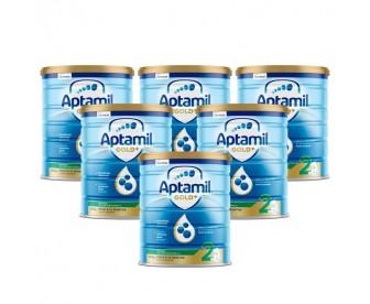 【15天必达】【新西兰直邮包邮】Aptamil 爱他美 金装2段 900克x6罐/箱(6-12个月)【收件人身份证号必需上传】