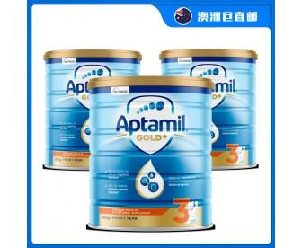 【澳洲直邮包邮】Apatmil 爱他美 金装3段 900克x3罐/箱(12个月+)