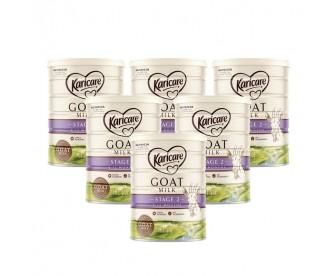 【新西兰直邮包邮】Karicare 可瑞康 婴幼儿羊奶粉2段 900克x6罐/箱(6-12个月)【奶粉订单收件人身份证号必填】