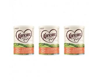 【新西兰直邮包邮】Karicare 可瑞康 婴幼儿奶粉普通装1段 900克x3罐/箱(0-6个月)(保质期:2021.12)【奶粉订单收件人身份证号必填】