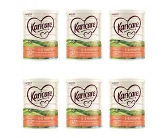 【新西兰直邮包邮】Karicare 可瑞康 婴幼儿奶粉普通装1段 900克x6罐/箱(0-6个月)(保质期:2021.10)【奶粉订单收件人身份证号必填】