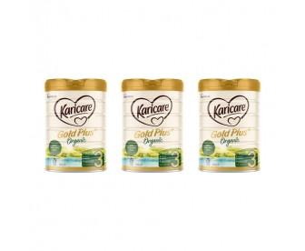 【新西兰直邮包邮】Karicare 可瑞康 有机牛奶粉3段 900克x3罐/箱(12+月适用)【奶粉订单收件人身份证必需上传】