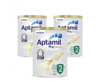 【新西兰直邮包邮】Aptamil 爱他美 白金版2段 900克x3罐/箱(6-12个月)【奶粉订单身份证必需上传】