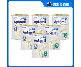 【澳洲直邮包邮】Aptamil 爱他美 白金版2段 900克x6罐/箱(6-12个月)