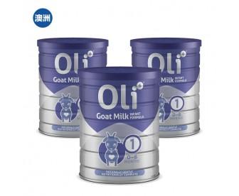 【澳洲直邮包邮】Oli6 颖睿 婴幼儿配方羊奶粉一段 800克x3罐/箱(新疆、西藏地区不发货)