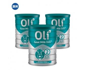 【澳洲直邮包邮】Oli6 颖睿 婴幼儿配方羊奶粉二段 800克x3罐/箱(新疆、西藏地区不发货)