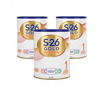 【新包装】【新西兰直邮包邮】Wyeth 惠氏 S26金装奶粉1段 900克x3罐/箱(0-6个月)【奶粉订单收件人身份证号必填】