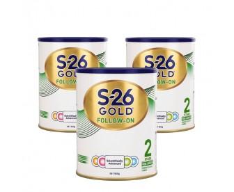 【新包装】【新西兰直邮包邮】Wyeth 惠氏 S26金装奶粉2段 900克x3罐/箱(6-12个月)【奶粉订单收件人身份证号必填】