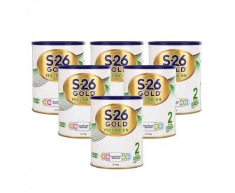 【新包装】【新西兰直邮包邮】Wyeth 惠氏 S26金装奶粉2段 900克x6罐/箱(6-12个月)【奶粉收件人身份证必需上传】