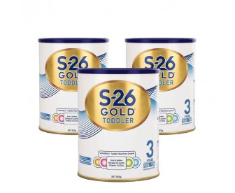【新包装】【新西兰直邮包邮】Wyeth 惠氏 S26金装奶粉3段 900克x3罐/箱(1岁+)【奶粉订单收件人身份证号必填】