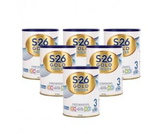 【新包装】【新西兰直邮包邮】Wyeth 惠氏 S26金装奶粉3段 900克x6罐/箱(1岁+)【奶粉订单收件人身份证必需上传】