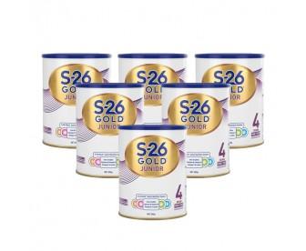 【新包装】【新西兰直邮包邮】Wyeth 惠氏 S26金装奶粉4段 900克x6罐/箱(2岁+)【奶粉订单收件人身份证必需上传】